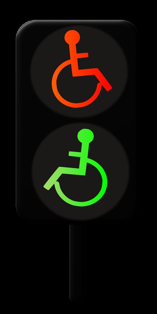 little green man, disabled, wheelchair